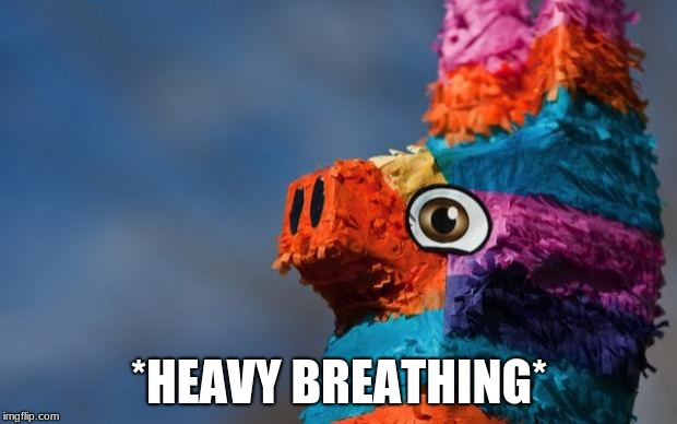 Pinata Surprise | *HEAVY BREATHING* | image tagged in pinata surprise | made w/ Imgflip meme maker