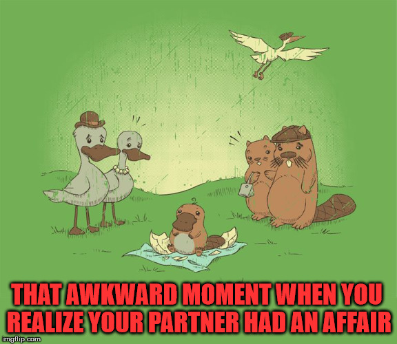 Who are the parents? | THAT AWKWARD MOMENT WHEN YOU REALIZE YOUR PARTNER HAD AN AFFAIR | image tagged in memes,affairs,relationships,awkward moment,funny,well this is awkward | made w/ Imgflip meme maker