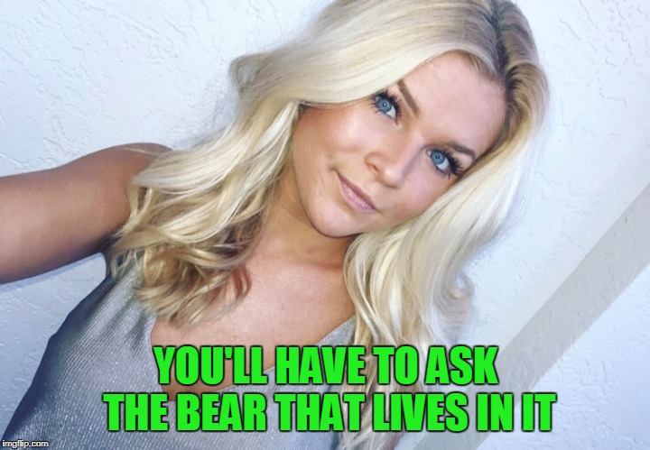 YOU'LL HAVE TO ASK THE BEAR THAT LIVES IN IT | made w/ Imgflip meme maker