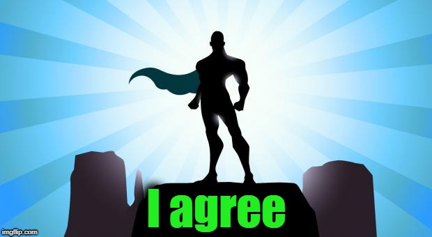 Superhero | I agree | image tagged in superhero | made w/ Imgflip meme maker