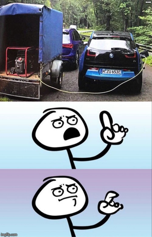 A real gas saver | A REAL GAS SAVER | image tagged in question guy,electric car,generator,pipe_picasso | made w/ Imgflip meme maker