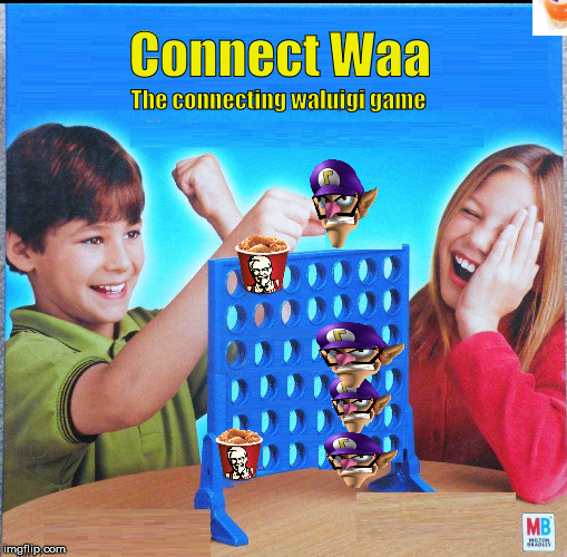 Connect Waa | Connect Waa The connecting waluigi game | image tagged in blank connect four | made w/ Imgflip meme maker