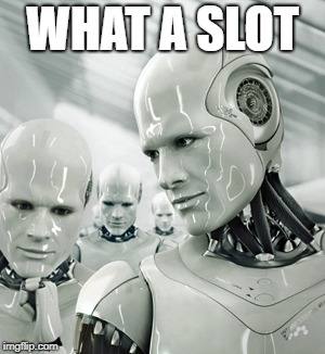 Robots Meme | WHAT A SLOT | image tagged in memes,robots | made w/ Imgflip meme maker
