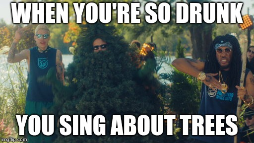 TREES! | WHEN YOU'RE SO DRUNK YOU SING ABOUT TREES | image tagged in snl,comedy,trees | made w/ Imgflip meme maker