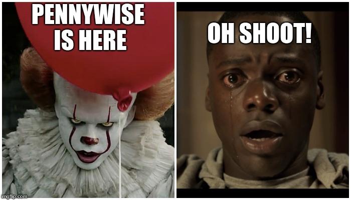 When You See It Scary Clown: Run Memes & GIFs