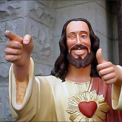 Buddy Christ Meme | J | image tagged in memes,buddy christ | made w/ Imgflip meme maker