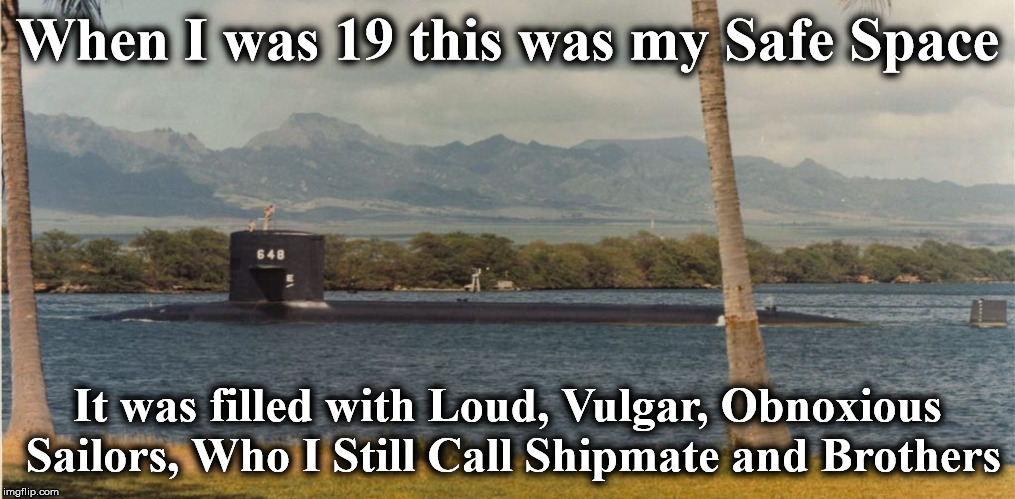When I was 19 this was my Safe Space It was filled with Loud, Vulgar, Obnoxious Sailors, Who I Still Call Shipmate and Brothers | image tagged in aspro | made w/ Imgflip meme maker