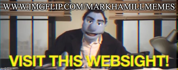 Visit this WebSIGHT | WWW.IMGFLIP.COM/MARKHAMILLMEMES | image tagged in visit this website | made w/ Imgflip meme maker
