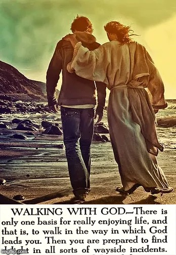 Walk With God | image tagged in walk with god,jesus,meaning life | made w/ Imgflip meme maker