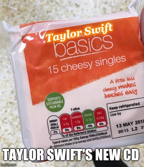 Taylor Swift TAYLOR SWIFT'S NEW CD | made w/ Imgflip meme maker