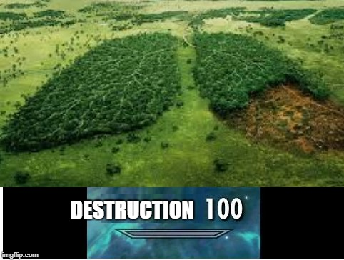DESTRUCTION | image tagged in destruction,smoking,save the earth | made w/ Imgflip meme maker