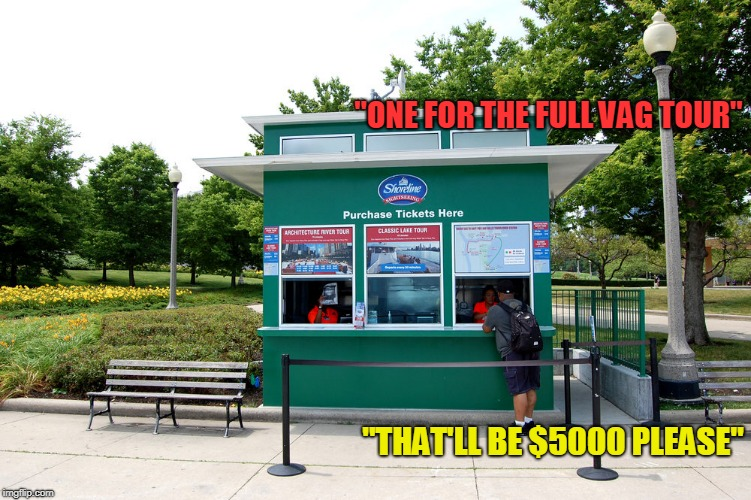 """ONE FOR THE FULL VAG TOUR"" ""THAT'LL BE $5000 PLEASE"" 