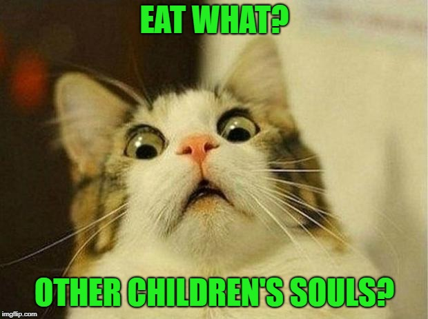 EAT WHAT? OTHER CHILDREN'S SOULS? | made w/ Imgflip meme maker