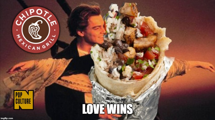 chipotle burrito | LOVE WINS | image tagged in chipotle burrito | made w/ Imgflip meme maker