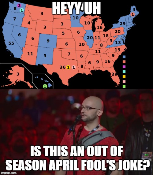HEYY UH IS THIS AN OUT OF SEASON APRIL FOOL'S JOKE? | image tagged in PoliticalHumor | made w/ Imgflip meme maker