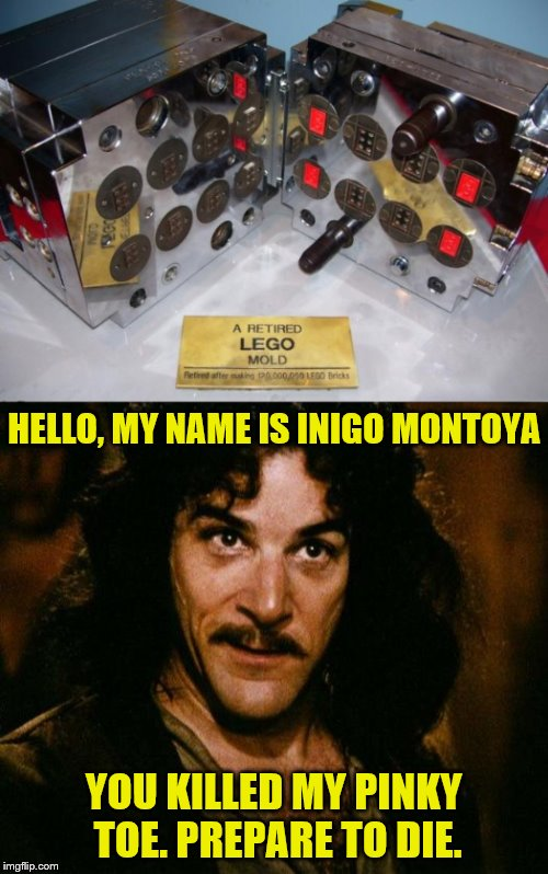 "Fine print on plate says, ""Retired after making 120,000,000 LEGO Bricks"" 