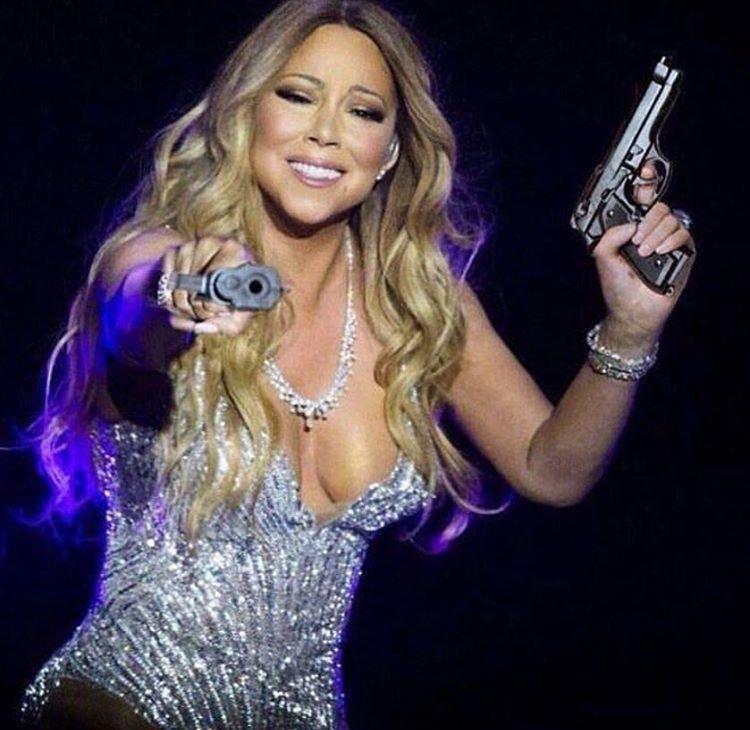 Mariah Carey Gun Blank Template - Imgflip