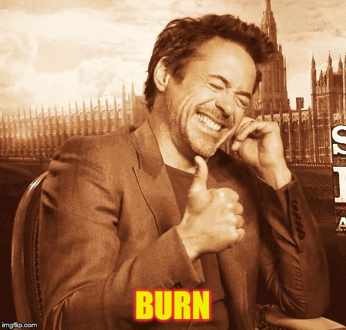 laughing | BURN | image tagged in laughing | made w/ Imgflip meme maker