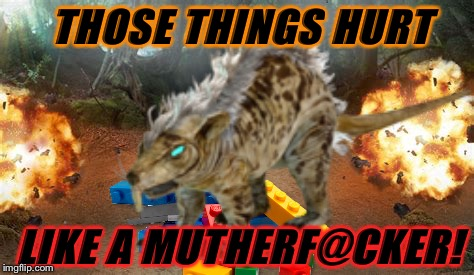 THOSE THINGS HURT LIKE A MUTHERF@CKER! | made w/ Imgflip meme maker