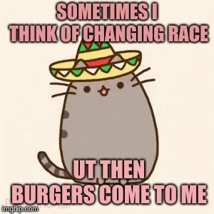 SOMETIMES I THINK OF CHANGING RACE UT THEN BURGERS COME TO ME | image tagged in memes,chuck norris | made w/ Imgflip meme maker
