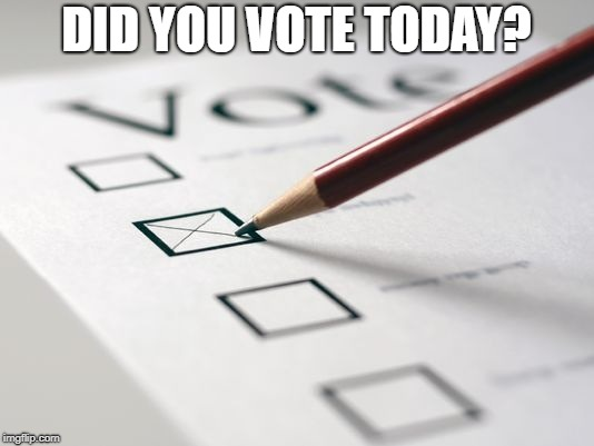 Voting Ballot | DID YOU VOTE TODAY? | image tagged in voting ballot | made w/ Imgflip meme maker