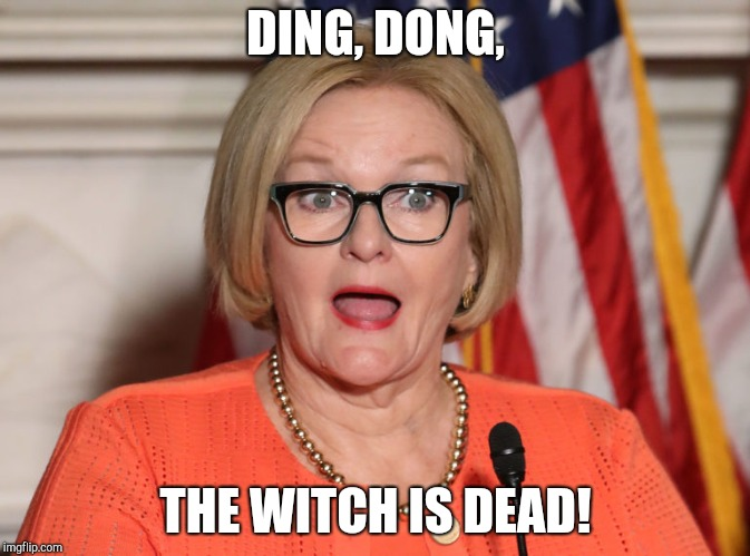 Missouri Is Free! | DING, DONG, THE WITCH IS DEAD! | image tagged in claire mccaskill,red wave,midterms,josh hawley,wicked witch | made w/ Imgflip meme maker