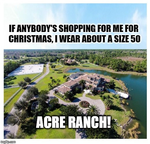 HEY SANTA, I'VE BEEN GOOD! | IF ANYBODY'S SHOPPING FOR ME FOR ACRE RANCH! CHRISTMAS, I WEAR ABOUT A SIZE 50 | image tagged in christmas,christmas shopping,shopping | made w/ Imgflip meme maker
