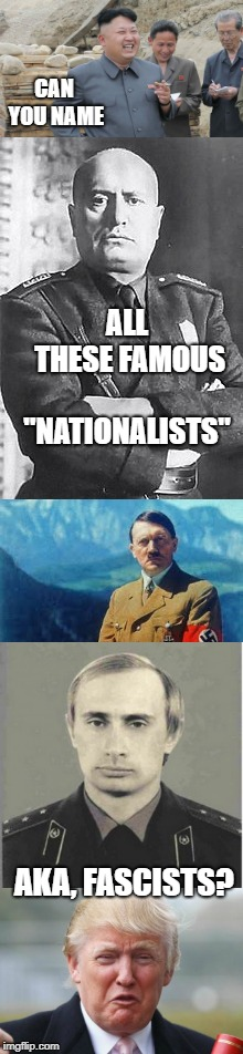 "Fascism, fear, hate and racism all coming to light in America | CAN YOU NAME AKA, FASCISTS? ALL THESE FAMOUS ""NATIONALISTS"" 