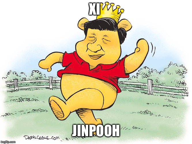 Xi Jinpooh | XI JINPOOH | image tagged in china,xi jinping,communist socialist,winnie the pooh | made w/ Imgflip meme maker