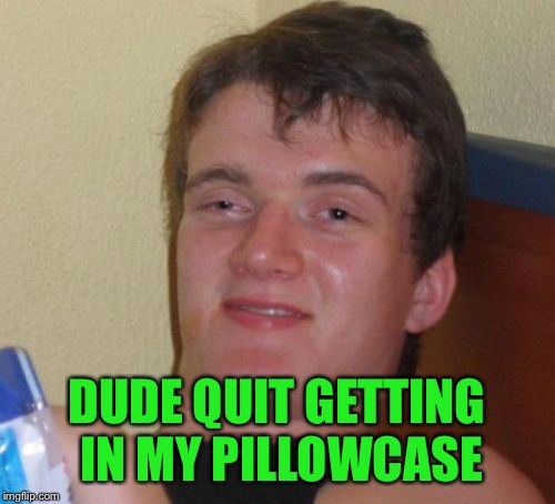10 Guy Meme | DUDE QUIT GETTING IN MY PILLOWCASE | image tagged in memes,10 guy | made w/ Imgflip meme maker
