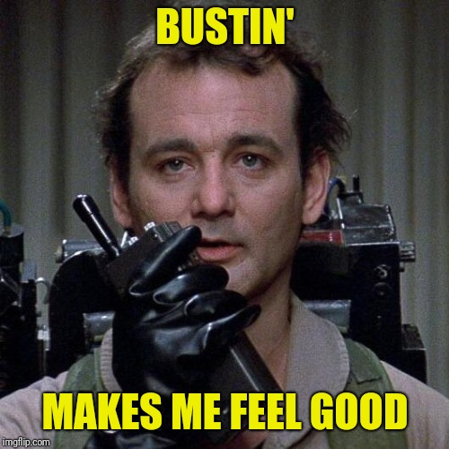 Ghostbusters  | BUSTIN' MAKES ME FEEL GOOD | image tagged in ghostbusters | made w/ Imgflip meme maker
