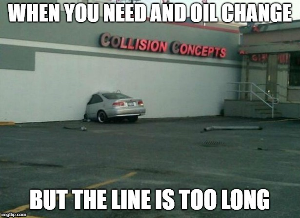 This actually happened in line at a collision center 4 days ago... | image tagged in funny car crash | made w/ Imgflip meme maker