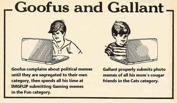 image tagged in goofus and gallant at imgflip,satire,highlights magazine | made w/ Imgflip meme maker