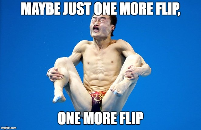 one more flip | MAYBE JUST ONE MORE FLIP, ONE MORE FLIP | image tagged in i hope no one done it before | made w/ Imgflip meme maker