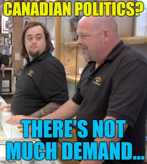 pawn | CANADIAN POLITICS? THERE'S NOT MUCH DEMAND... | image tagged in pawn | made w/ Imgflip meme maker