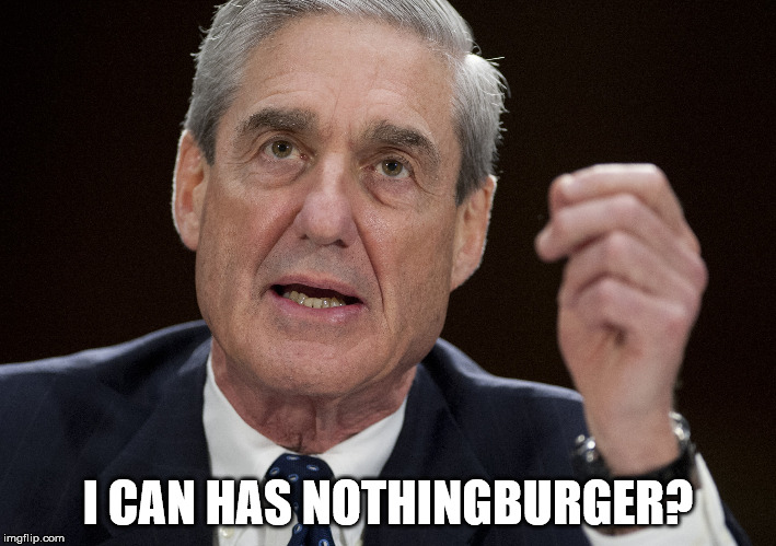 Robert Mueller - I can has nothingburger? | I CAN HAS NOTHINGBURGER? | image tagged in politics,mueller,russiarussiarussia | made w/ Imgflip meme maker