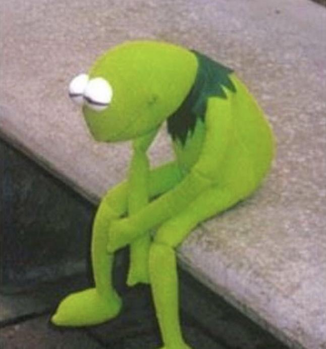 Sad Kermit Blank Template Imgflip