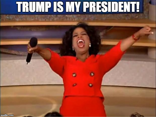 You get a job and you get a job and you get a job. | TRUMP IS MY PRESIDENT! | image tagged in memes,oprah you get a | made w/ Imgflip meme maker