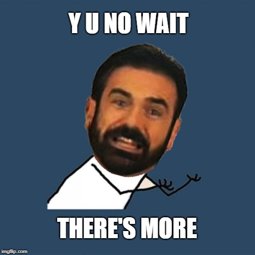 Y U NOvember (A socrates and punman21 event)---Billy Mays | Y U NO WAIT THERE'S MORE | image tagged in y u no,y u november,billy mays,but wait there's more,politics,political meme | made w/ Imgflip meme maker