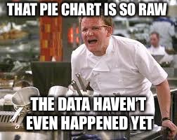 Gordon ramsey | THAT PIE CHART IS SO RAW THE DATA HAVEN'T EVEN HAPPENED YET | image tagged in gordon ramsey | made w/ Imgflip meme maker