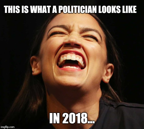Representative Cortez... | THIS IS WHAT A POLITICIAN LOOKS LIKE IN 2018... | image tagged in memes | made w/ Imgflip meme maker