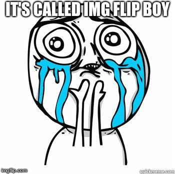 Crying Face | IT'S CALLED IMG FLIP BOY | image tagged in crying face | made w/ Imgflip meme maker
