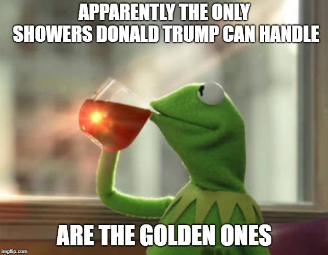 But Thats None Of My Business (Neutral) | APPARENTLY THE ONLY SHOWERS DONALD TRUMP CAN HANDLE ARE THE GOLDEN ONES | image tagged in memes,but thats none of my business neutral | made w/ Imgflip meme maker