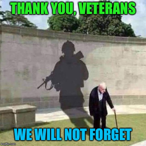 Happy Veterans Day! | THANK YOU, VETERANS WE WILL NOT FORGET | image tagged in veterans day,veterans,remember,thank you | made w/ Imgflip meme maker
