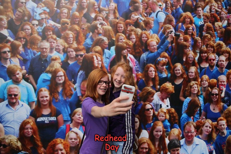 Where's RedRedWine? | Where's RedRedWine? Redhead Day | image tagged in redredwine,where's waldo | made w/ Imgflip meme maker