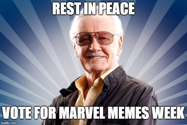 Stan Lee | REST IN PEACE VOTE FOR MARVEL MEMES WEEK | image tagged in stan lee | made w/ Imgflip meme maker