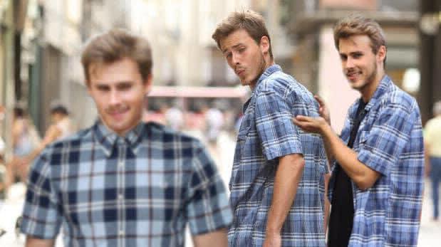 Blank Meme Template Distracted Boyfriend