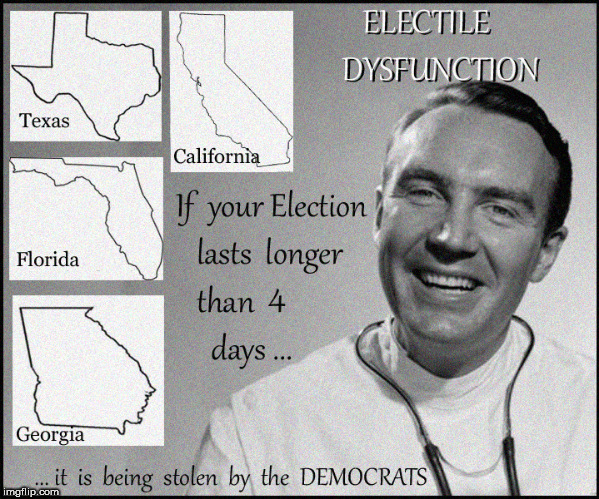Electile Dysfunction | image tagged in erectile dysfunction,election fraud,current events,politics lol,lol so funny,funny memes | made w/ Imgflip meme maker