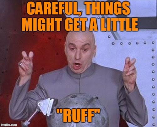 "Dr Evil Laser Meme | CAREFUL, THINGS MIGHT GET A LITTLE ""RUFF"" 