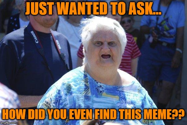 Wat Lady | JUST WANTED TO ASK... HOW DID YOU EVEN FIND THIS MEME?? | image tagged in wat lady | made w/ Imgflip meme maker